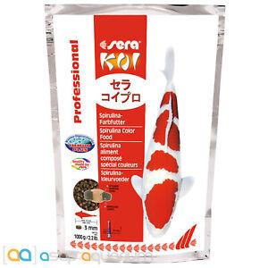 sera Koi Professional Spirulina Color Food 1000 grams 3mm Pellets Koi Fish Food