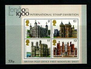 MINT 1980 GB MINI SHEET LONDON INTERNATIONAL STAMP EXHIBITION NUMBER 2 M/SHEET