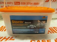 Storm Secure Rat Poison Mouse Mice Rodent Poison 3kg Single Feed Kill Blocks
