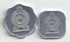 2 UNCIRCULATED COINS from SRI LANKA - 1991 5 CENT & 1988 10 CENT