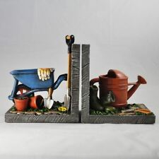 Gardening Bookends Office School Desk Book Ends Decorative Bookshelf Display