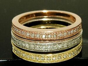 R199 Genuine 9K or 18K Gold NATURAL Diamond Eternity Wedding Band Ring yr size