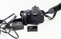 Nikon D D3000 10.2MP Digital SLR Camera Black Body ONLY 750 SHUTTER COUNT