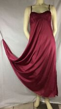 Vintage Olga Nightgown Slip/Gown Lace Bodice Rouge Color Size 34 Style 92017