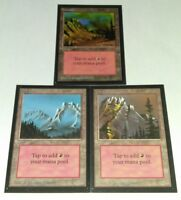 3x LAND MOUNTAIN BETA COLLECTOR'S EDITION MAGIC THE GATHERING MTG LP