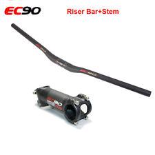 EC90 Carbon Fiber Handlebar 31.8*680-760mm Stem 6/17° 60-120mm MTB Bike Bar Sets