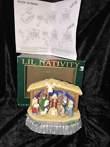 LIL NATIVITY Maistro Animated Musical 7 Moving Figures & 20 Songs In Box