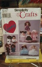 Oop Simplicity Crafts 8151 Ginny doll wardrobe ruffled gown veil ballet NEW