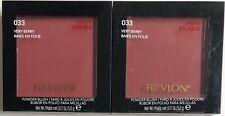 (2) Revlon Powder Blush, 033 Very Berry