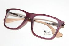 NEW RAY-BAN RB 7054 5526 EYEGLASSES RUBBER PURPLE REDDISH AUTHENTIC 51-17-140 MM