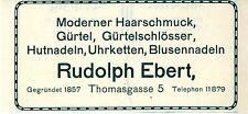 Leipzig Rudolph Ebert Moderner haarschmuck Gürtel Uhr.. Historische Annonce 1911