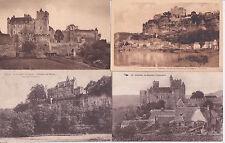 Lot 4 cartes postales anciennes BEYNAC château féodal 2