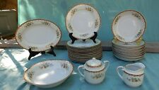 """Vintage 29 Pieces """"ROSLYN"""" Diamond China  DISH SET - Made in Japan"""