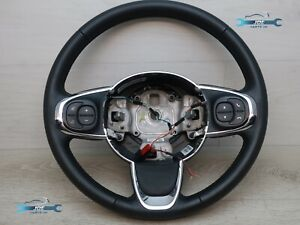 2019 FIAT 500 COLLEZIONE MULTIFUNCTION LEATHER STEERING WHEEL 34211935C
