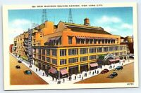 New Madison Square Garden, New York City vintage postcard NY, caption on back