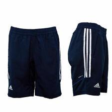 Adidas Woven 3 Stripe Team Climate Navy Womens Elasticated Shorts X13205 A41C