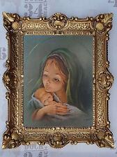 Gemälde Jesus Maria Ikonen Heiligenbild mit Rahmen 56x46 cm Religiöse Bilder 17