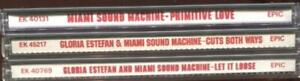 Gloria Estefan & Miami Sound Machine --Lot Of 3 CDs