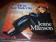 """JEANE MANSON fly to new york city ( world music ) 7""""/45 picture sleeve"""