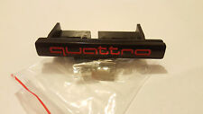Audi Quattro Black Red Front Grill Badge Emblem Logo S Line A 1 2 3 4 5 6 8 Q RS