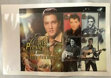 ELVIS PRESLEY 50TH ANNIVERSARY FIRST RECORD GRENADA 4- $2 STAMPS ON SHEET