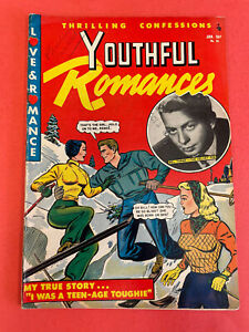 YOUTHFUL ROMANCES # 10 (1952-PIX) THRILLING CONFESSIONS -GOLDENAGE COMIC BOOK