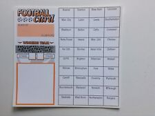 30 Football team cards charity fundraising (40 spaces)