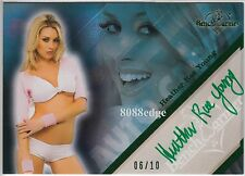 2011 BENCHWARMER LIMITED AUTO: HEATHER RAE YOUNG #6/10 GREEN AUTOGRAPH PLAYBOY