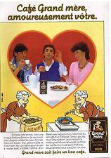 Publicité Advertising 1984 Le café grand-Mère