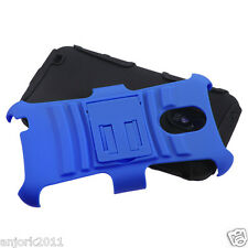Sprint Samsung Galaxy S II 2 D710 AA Hybrid Case Skin Cover w/Stand Blue