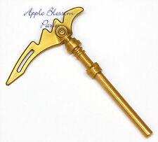 NEW Lego Ninjago Gold SCYTHE BLADE Minifig Ninja Kai Zane Jay Cole Knife Weapon