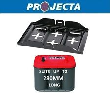 PROJECTA MBT100 UNIVERSAL METAL BATTERY TRAY STANDARD SIZE DUAL SYSTEM 4WD 4X4