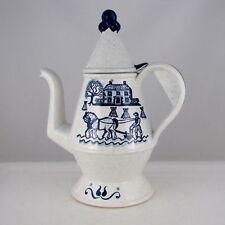 METLOX POPPYTRAIL PROVINCIAL BLUE COFFEE POT, 7 CUP