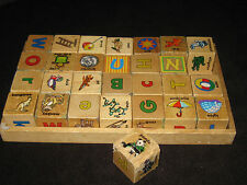 Waldorf Montessori Melissa & Doug Woden Blocks Baby Preschool Daycare Toy Lot