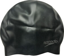 Speedo Adult Moulded Silicone Swimming Cap Black Royal White Pink Red Gold  Green 9e7221d13ba8