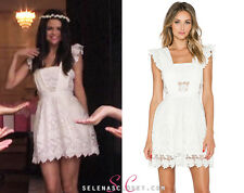 ICONIC feminine Self-Portrait floral lace white Dress ASO Selena Gomez US 6
