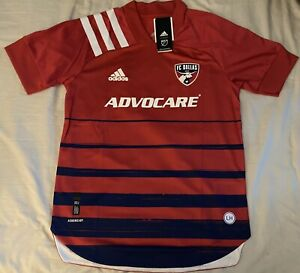Adidas FC Dallas Aeroeeady Authentic 2020 Home Soccer Jersey. Adult Size: Small