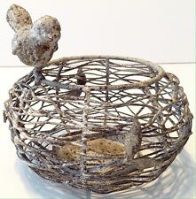 Rustic Bird Nest Candle Holder Decoration