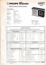 Manuel d'instructions service pour Philips L0 X91 T, Fanette