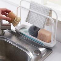 Kitchen Rag Sponge Soap Storage Rack Dishcloth Drain Tray Towel DIY Shelf Z8T5