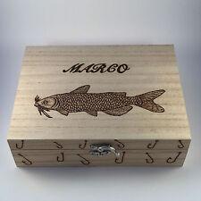 Fishing Tackle / MOBILE BOX CON INTARSIO mimetico regalo personalizzato per lui padri Giorno