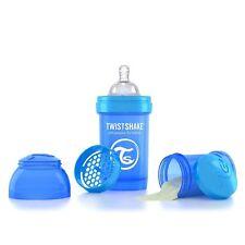 Twistshake 180ml Anti-Kolik Baby-Flasche mit Sauger S (ab Geburt) Blau