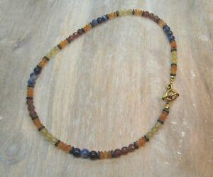 Gold Rutilated & Strawberry Quartz, Carnelian, Sodalite Gemstone Toggle Necklace