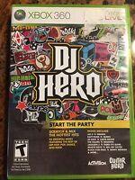 DJ Hero Xbox 360 Start the Party Video Game
