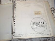 535A Oscilloscope Instruction Manual with Schematics~ Many pages - bound in book
