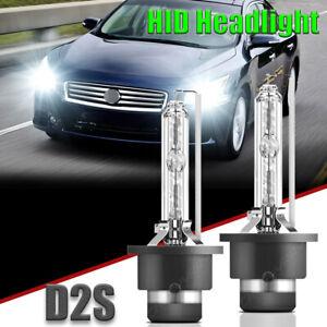 For Infiniti G37 2008-2013 High Low Beam 2X D2S HID Headlight Xenon White Bulbs