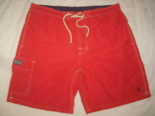 Polo Ralph Lauren Red Swim Trunks Board Shorts Brief Lined Men's Size XL EUC