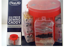 FineLife Red Sewing Caddy 210 Piece with Storage Compartments