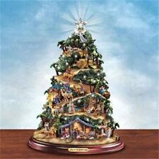 THOMAS KINKADE Lighted NATIVITY Christmas Tree MUSICAL NEW