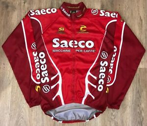 Saeco Cannondale RARE Windbreaker cycling jacket long sleeve jersey size L